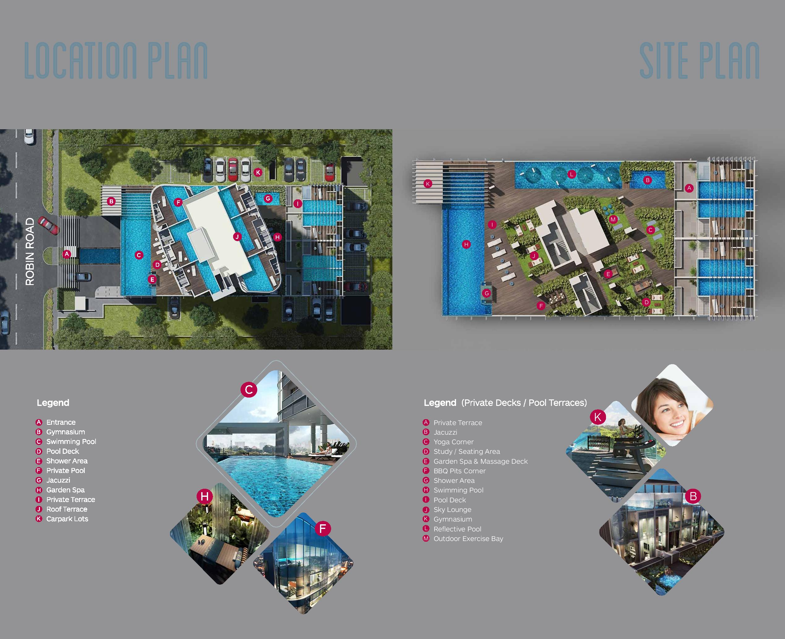 Robin Suites Site Map